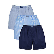 Buy Polo Ralph Lauren Woven Boxer Shorts, Pack of 3, Blue Online at johnlewis.com