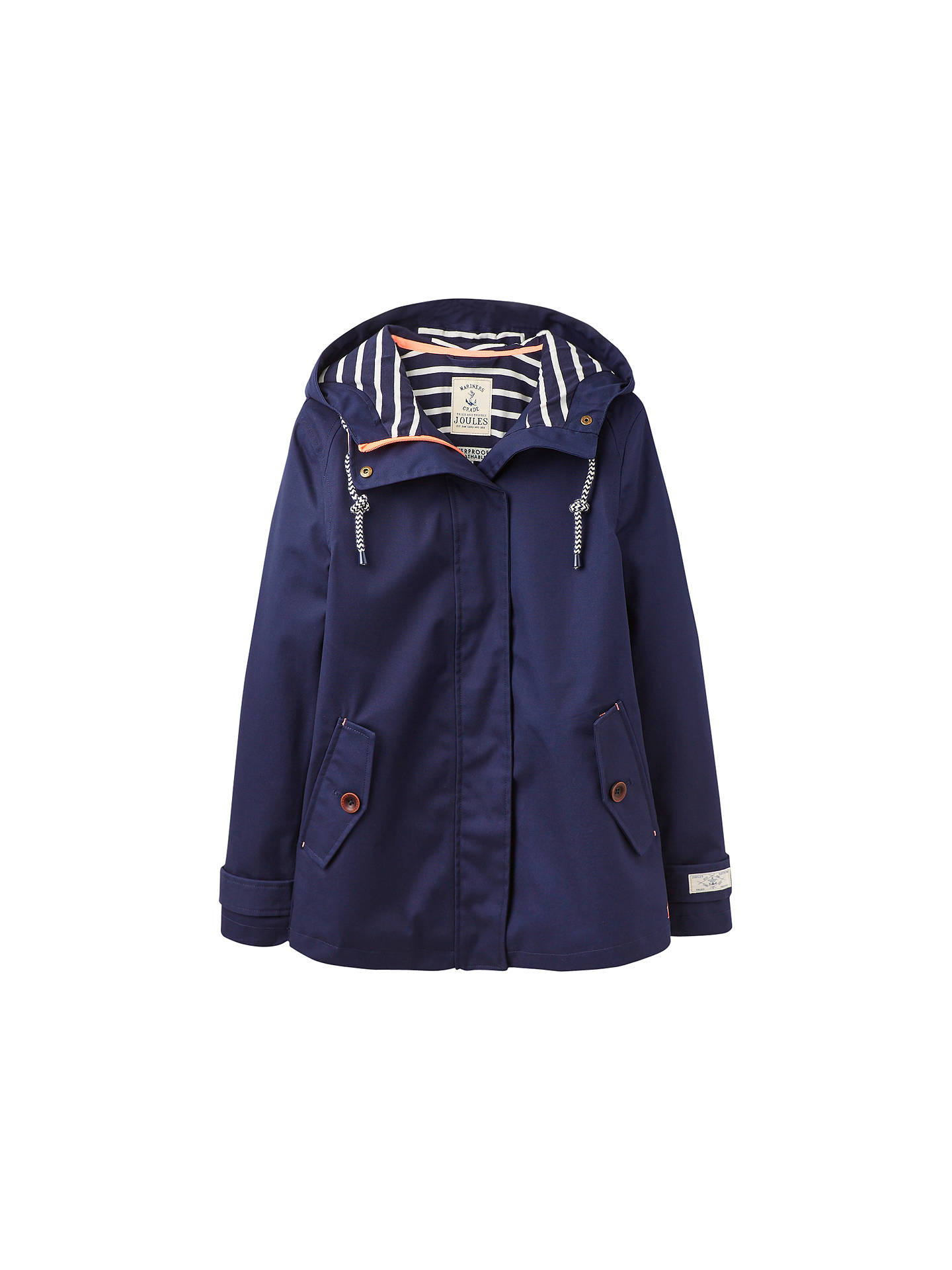 latest style lower price with wide selection of colors Joules Right as Rain Coast Waterproof Jacket, French Navy at ...