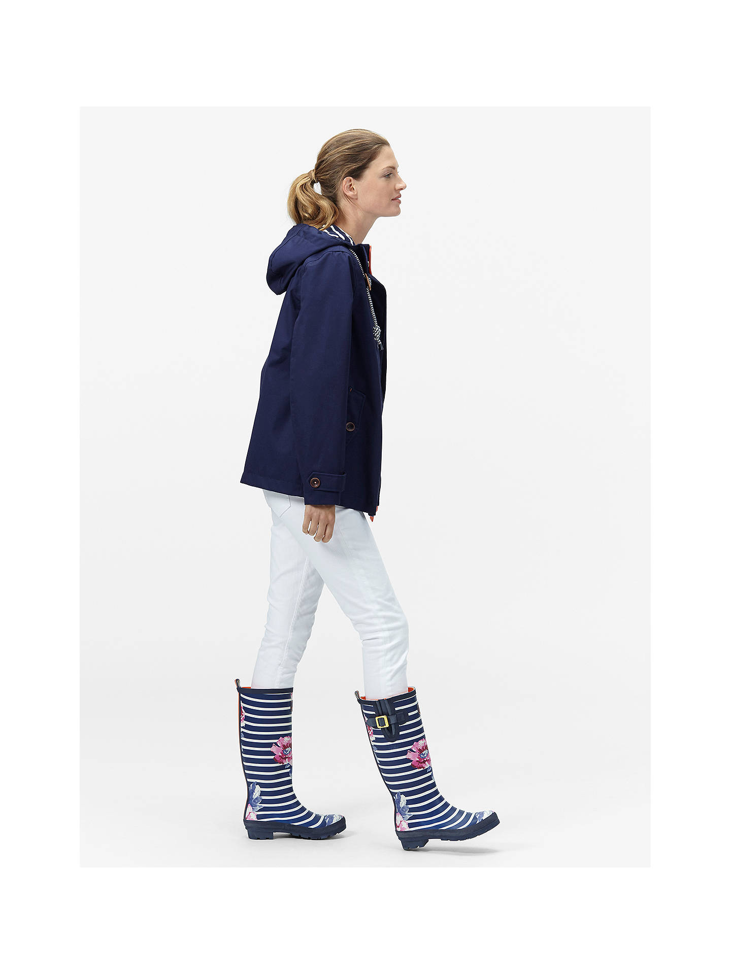 Buy Joules Right as Rain Coast Waterproof Jacket, French Navy, 12 Online at johnlewis.com