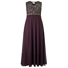 Buy Studio 8 Nadia Beaded Maxi Dress, Purple Online at johnlewis.com