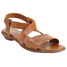 Buy John Lewis Lola Cross Strap Sandals, Tan Online at johnlewis.com
