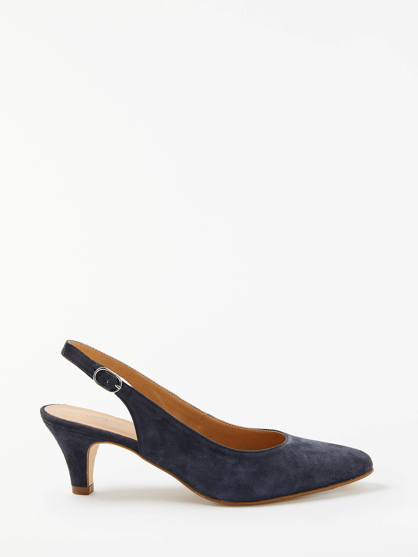 BuyJohn Lewis & Partners Grace Kitten Heel Court Shoes, Navy Suede, 5 Online at johnlewis.com