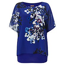 Buy Phase Eight Sadie Floral Print Blouse, Blue/Multi Online at johnlewis.com