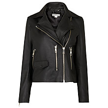 Buy Whistles Agnes Leather Biker Jacket Online at johnlewis.com