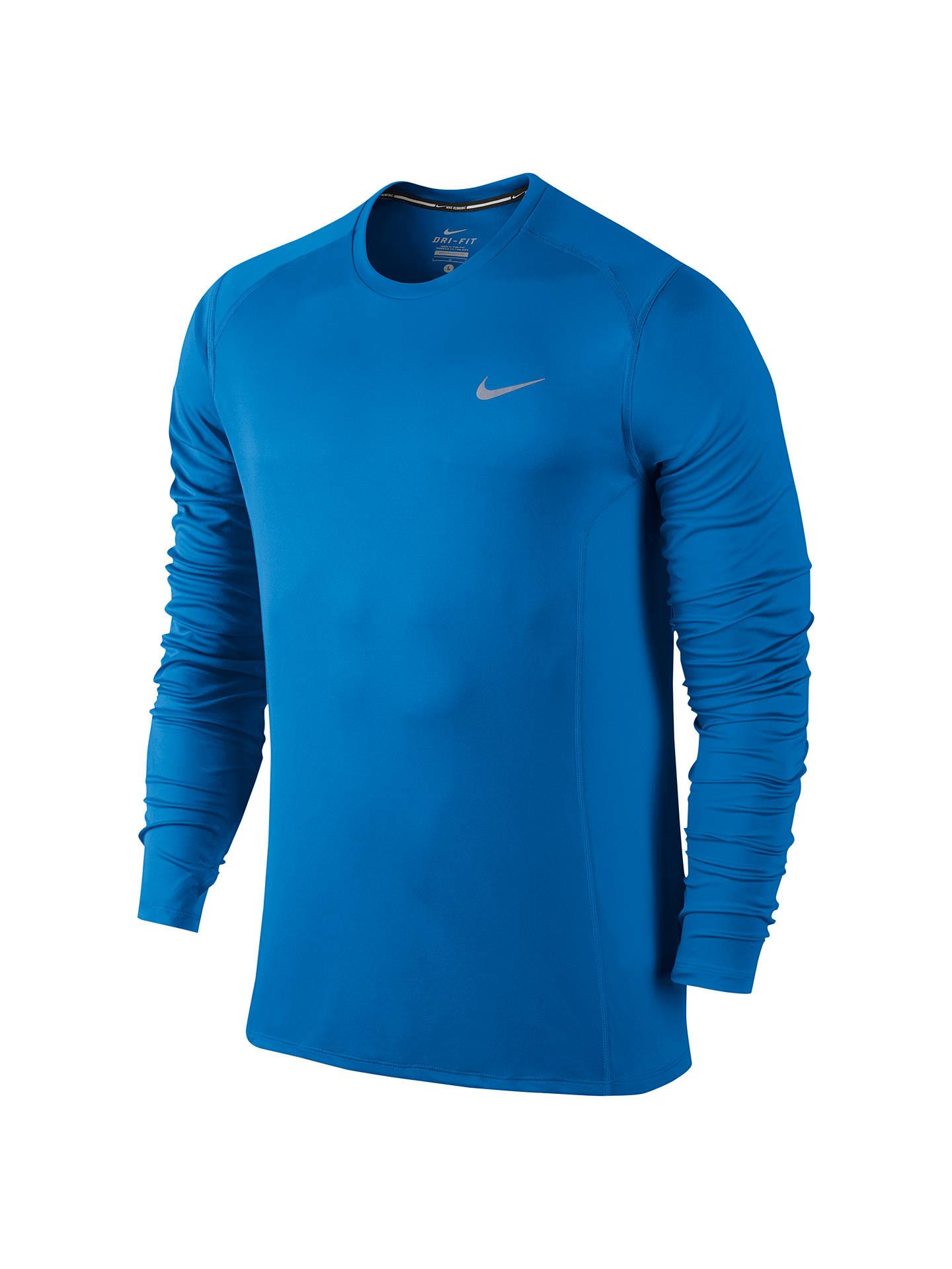 b6d2d22c Buy Nike Dri-FIT Miler Long Sleeve Running Top, Blue, S Online at ...