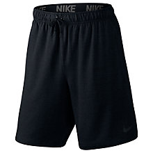 Buy Nike 20.5cm Dri-FIT Fleece Training Shorts, Black Online at johnlewis.com