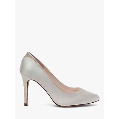 Rainbow Club Billie High Heeled Stiletto Court Shoes, Ivory Satin
