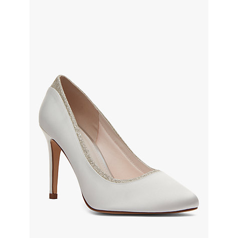 Buy Rainbow Club Billie High Heeled Stiletto Court Shoes, Ivory Satin Online at johnlewis.com
