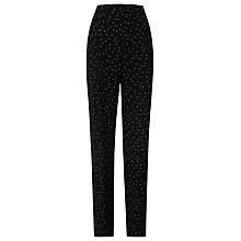 Buy L.K. Bennett Monica Trousers, Black/Cream Online at johnlewis.com