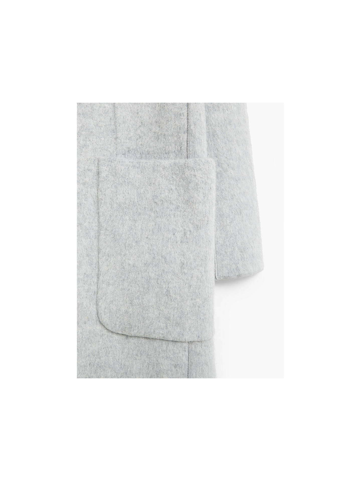 Buy Mango Straight Cut Coat, Light Pastel Grey, XS Online at johnlewis.com