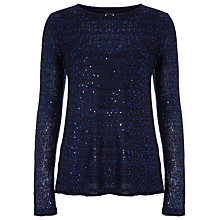 Buy Phase Eight Asha Sequin Split Back Jumper, InK Online at johnlewis.com