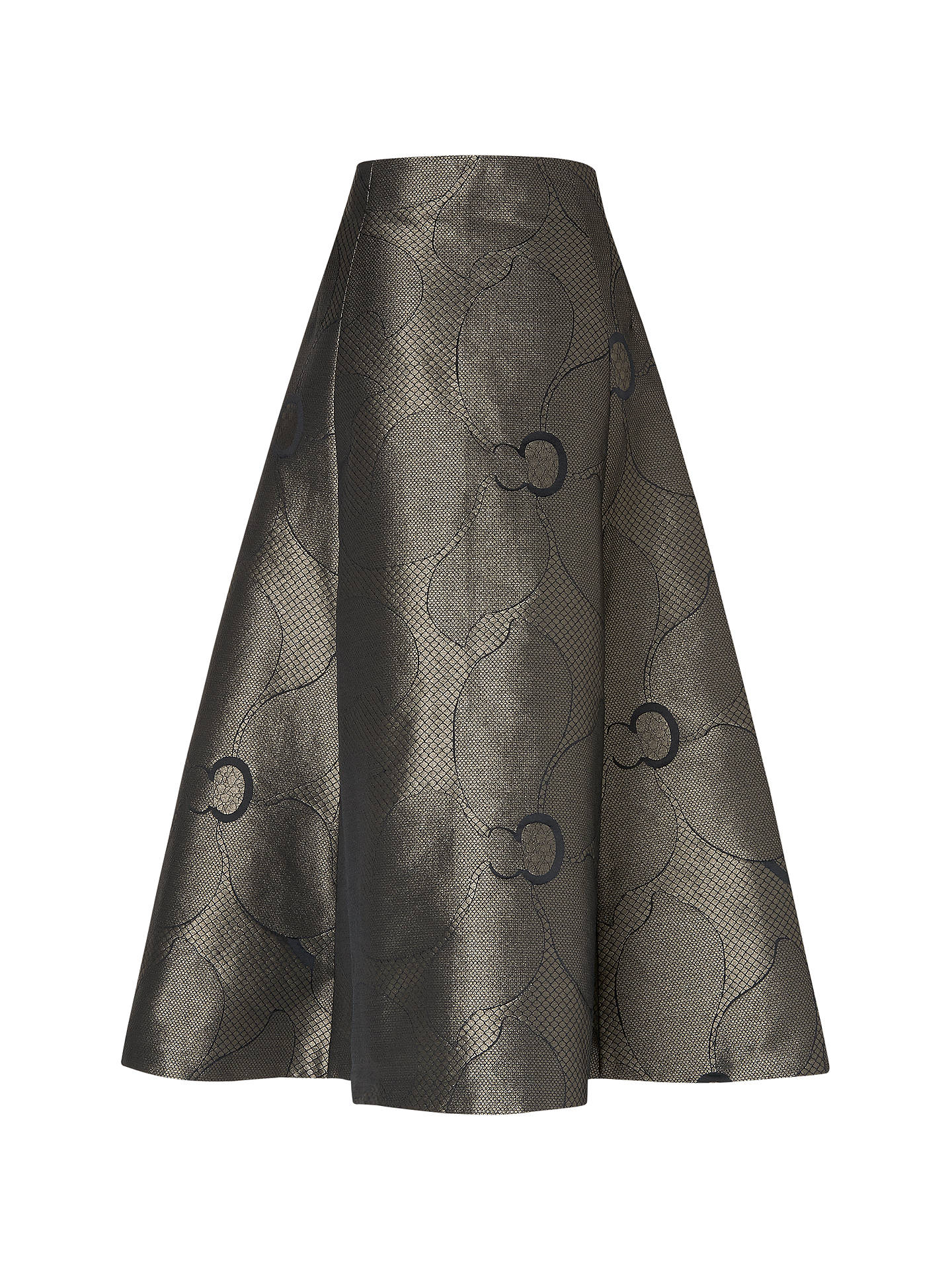 Buy L.K. Bennett Bianco Metallic Full Skirt, Gold, 14 Online at johnlewis.com