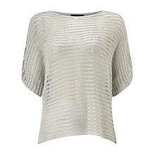 Buy Phase Eight Maura Metallic Top, Silver Online at johnlewis.com