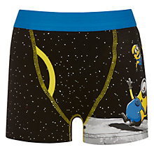 Buy Universal Boys' Minion Space Trunks, Pack of 2, Black Online at johnlewis.com