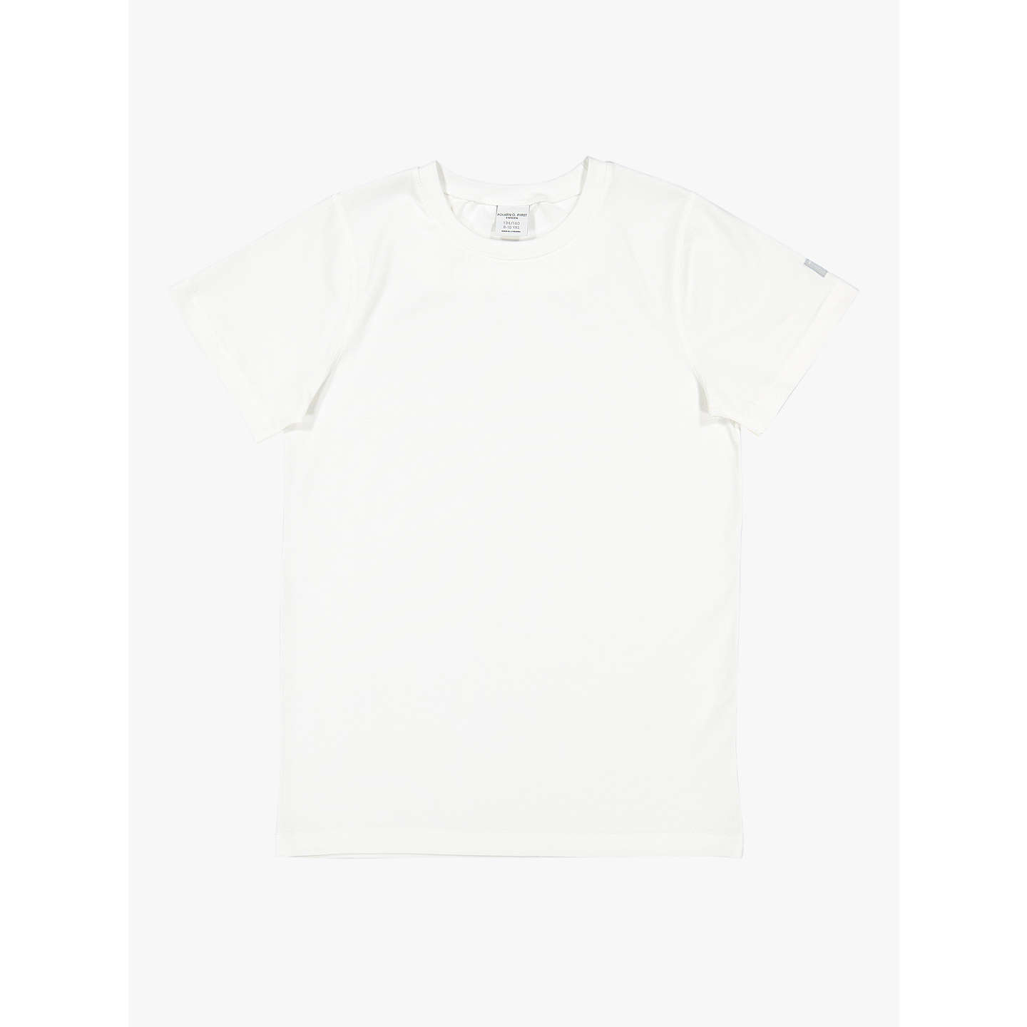 BuyPolarn O. Pyret Baby Cotton T-Shirt, White, 6-9 months Online at johnlewis.com