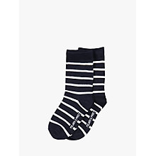 Buy Polarn O. Pyret Baby Stripe Socks, Pack of 2, Blue Online at johnlewis.com