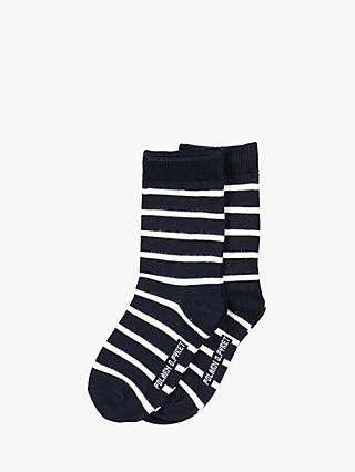 Polarn O. Pyret Baby Stripe Socks, Pack of 2, Blue