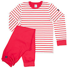 Buy Polarn O. Pyret Baby Stripe Pyjamas, Red Online at johnlewis.com
