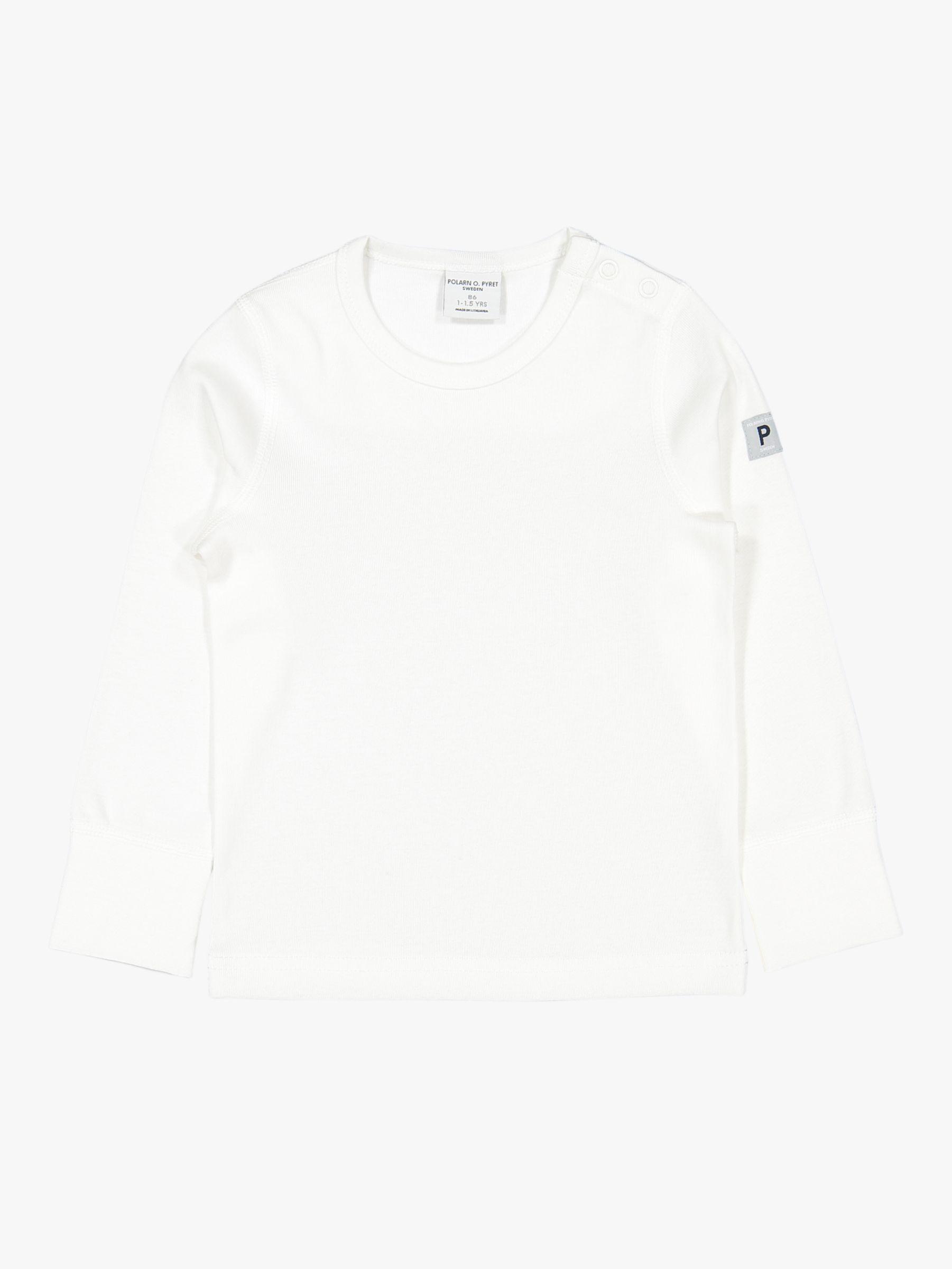 Polarn O. Pyret Polarn O. Pyret Baby GOTS Organic Cotton Long Sleeve Top, White