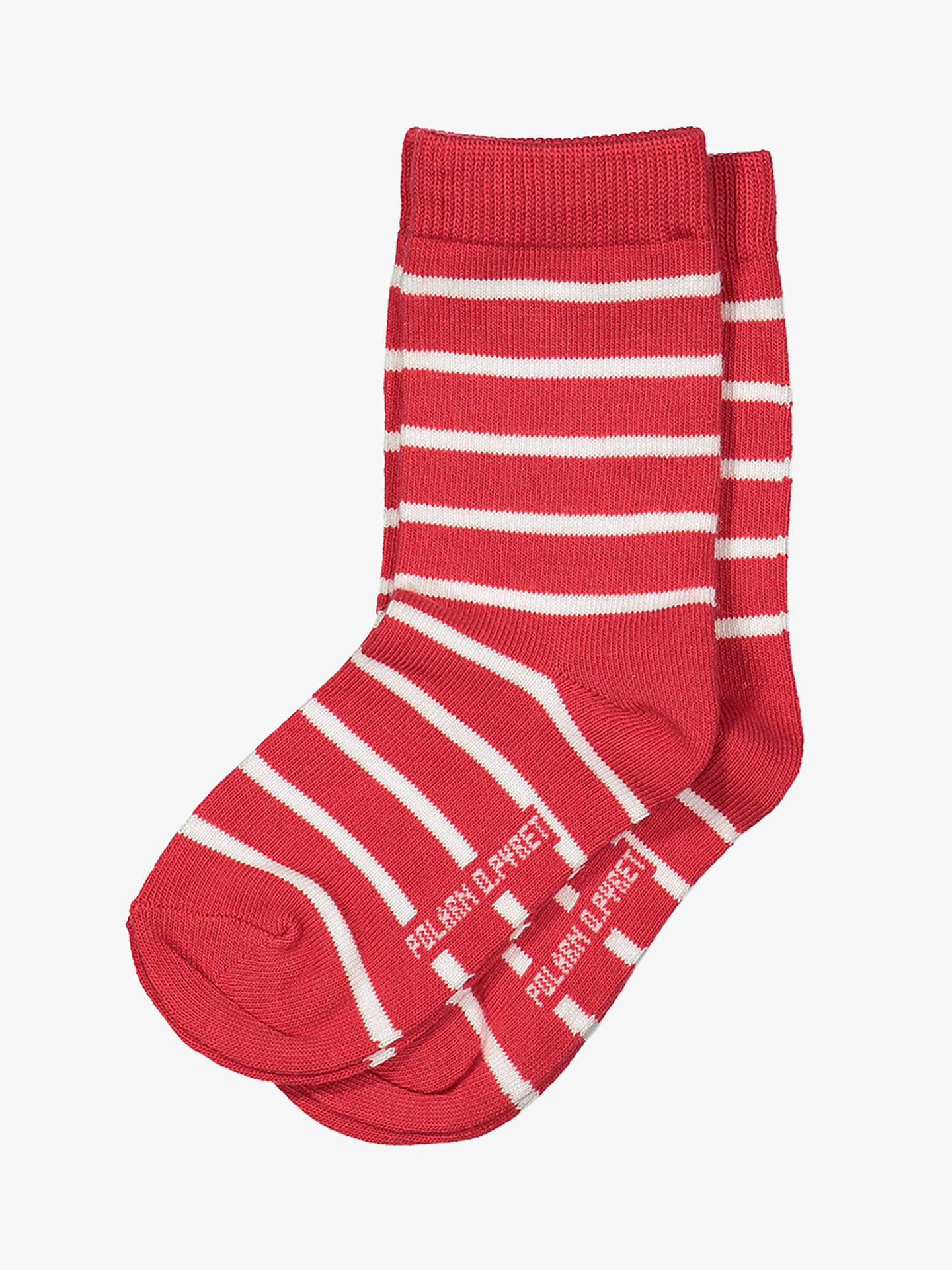BuyPolarn O. Pyret Baby Stripe Socks, Pack of 2, Red, 4-9 months Online at johnlewis.com