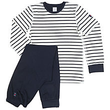 Buy Polarn O. Pyret Baby Stripe Pyjamas, Blue Online at johnlewis.com