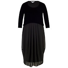 Buy Chesca Velvet Bodice Chiffon Dress, Black Online at johnlewis.com