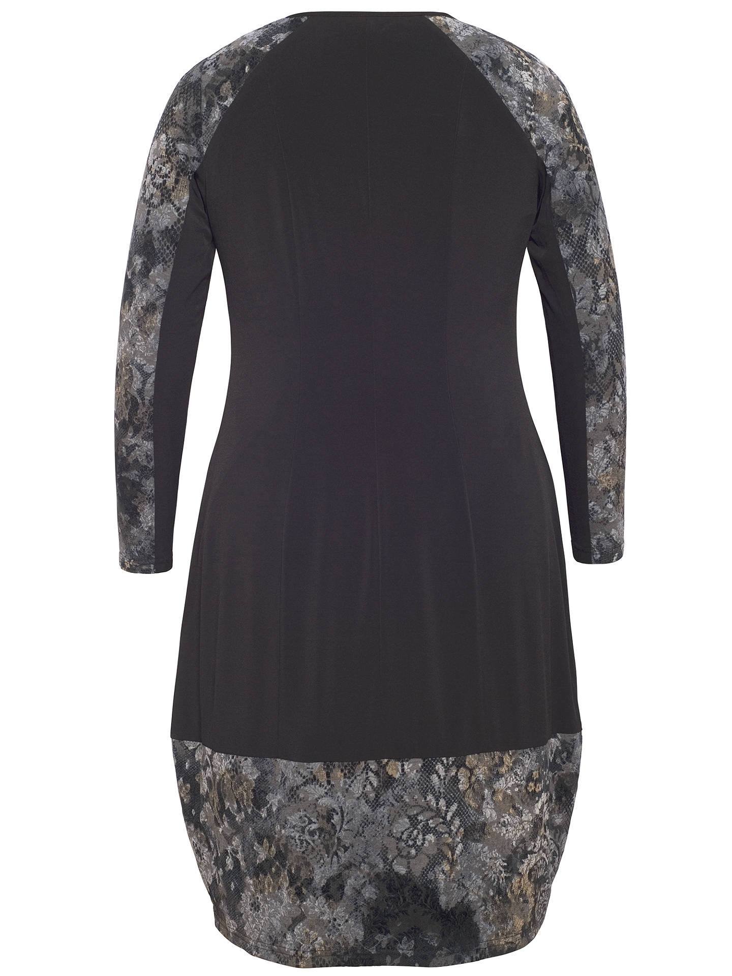 BuyChesca Flock Print Jersey Dress, Black, 12-14 Online at johnlewis.com