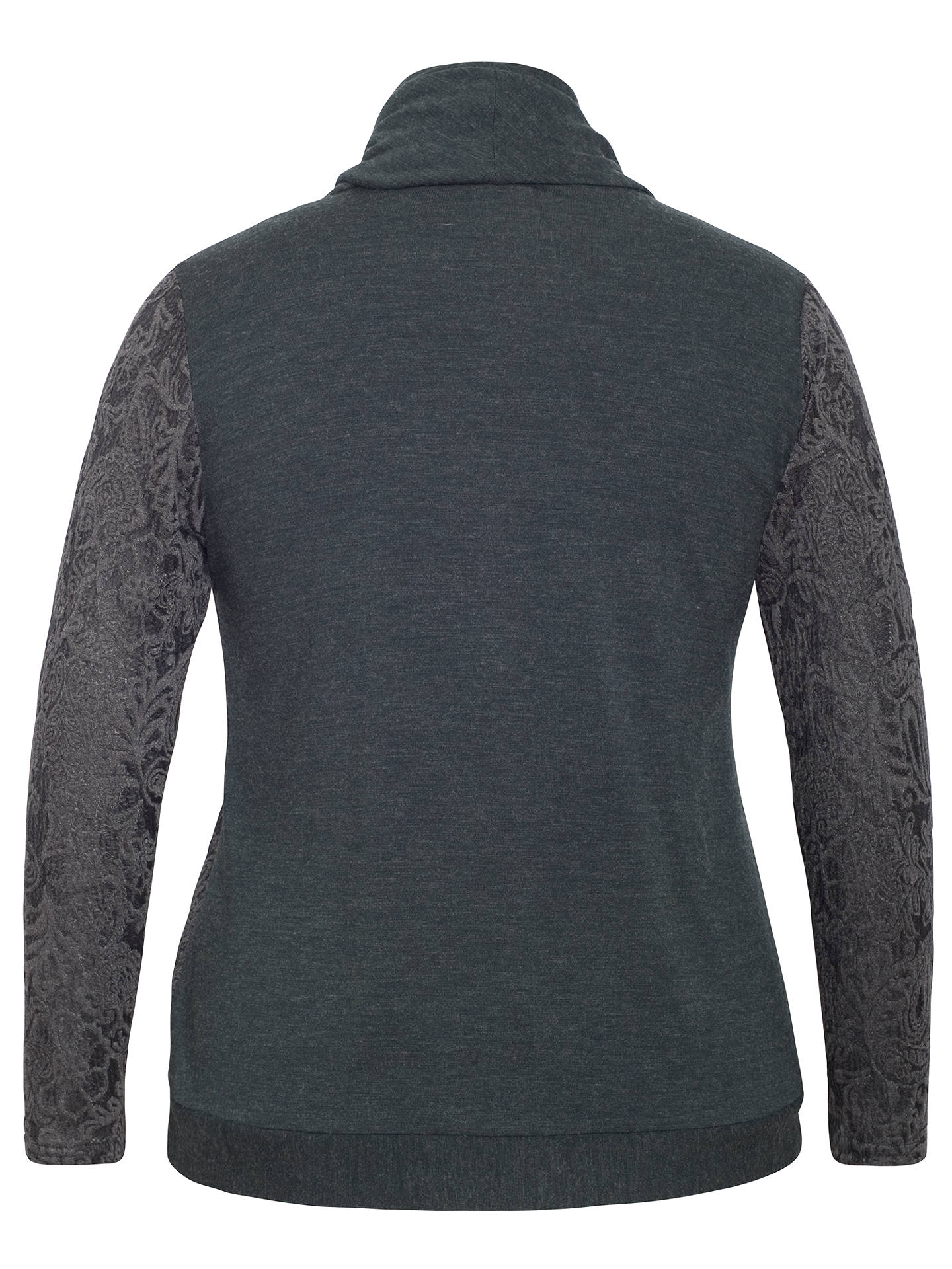Buy Chesca Baroque Cowl Neck Top, Charcoal, 12-14 Online at johnlewis.com