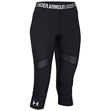 Buy Under Armour CoolSwitch Capri Pants, Black Online at johnlewis.com