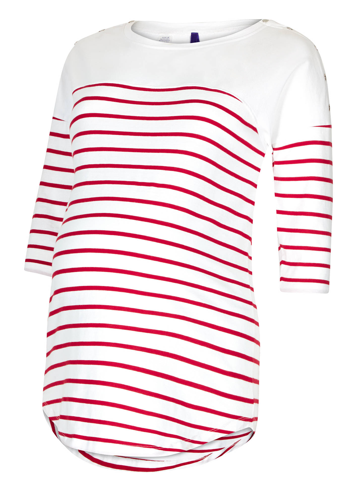 Buy Séraphine Jillian Stripe Maternity Nursing Top, Red/White, 8 Online at johnlewis.com