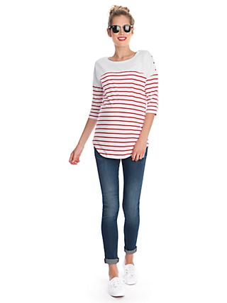 Séraphine Jillian Stripe Maternity Nursing Top, Red/White