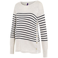 Buy Séraphine Molly Breton Stripe Maternity Nursing Jumper, White/Navy Online at johnlewis.com