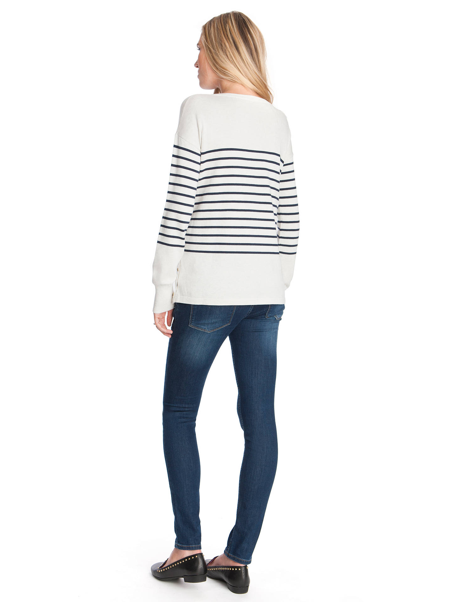 d540ffd629b20 ... Buy Séraphine Molly Breton Stripe Maternity Nursing Jumper, White/Navy,  S Online at