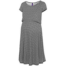 Buy Séraphine Marissa Maternity Nursing Dress, Black/White Online at johnlewis.com