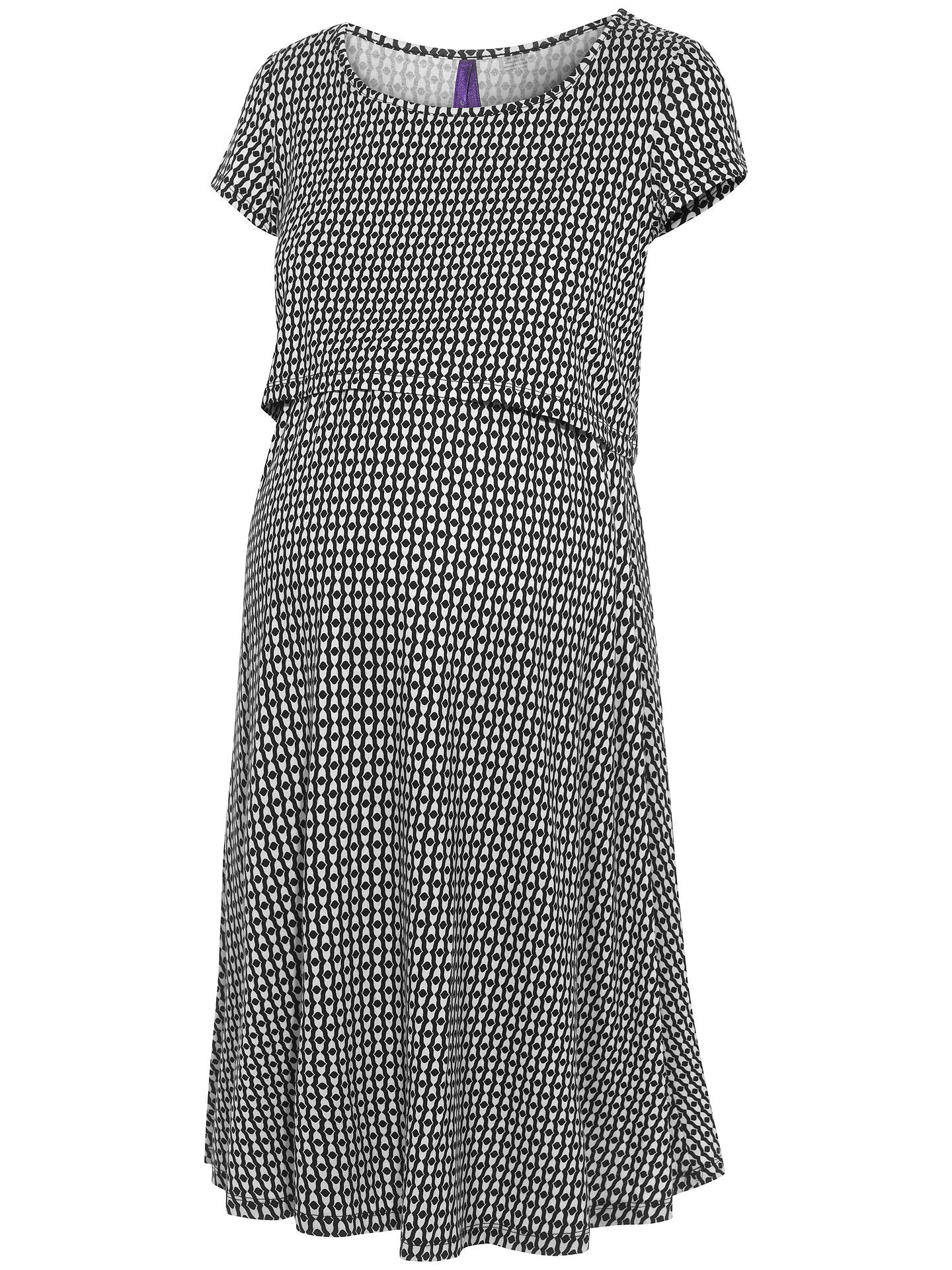 BuySéraphine Marissa Maternity Nursing Dress, Black/White, 8 Online at johnlewis.com