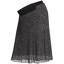 Buy Séraphine Leila Pleated Maternity Skirt, Black/White Online at johnlewis.com
