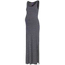 Buy Séraphine Magda Maternity Stripe Maxi Dress, Navy/White Online at johnlewis.com