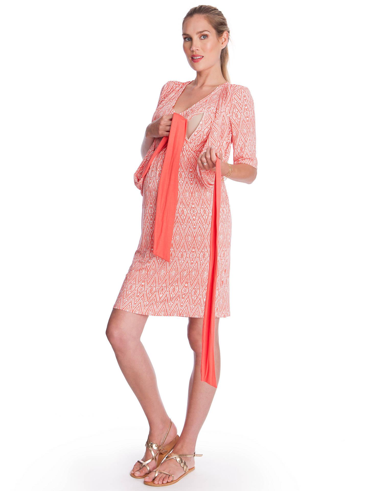 Seraphine Callie Maternity Nursing Dress Coral At John Lewis Partners