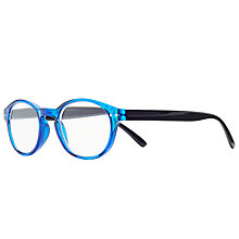 Buy Magnif Eyes Ready Readers St Louis Glasses, Cobalt/Black Online at johnlewis.com