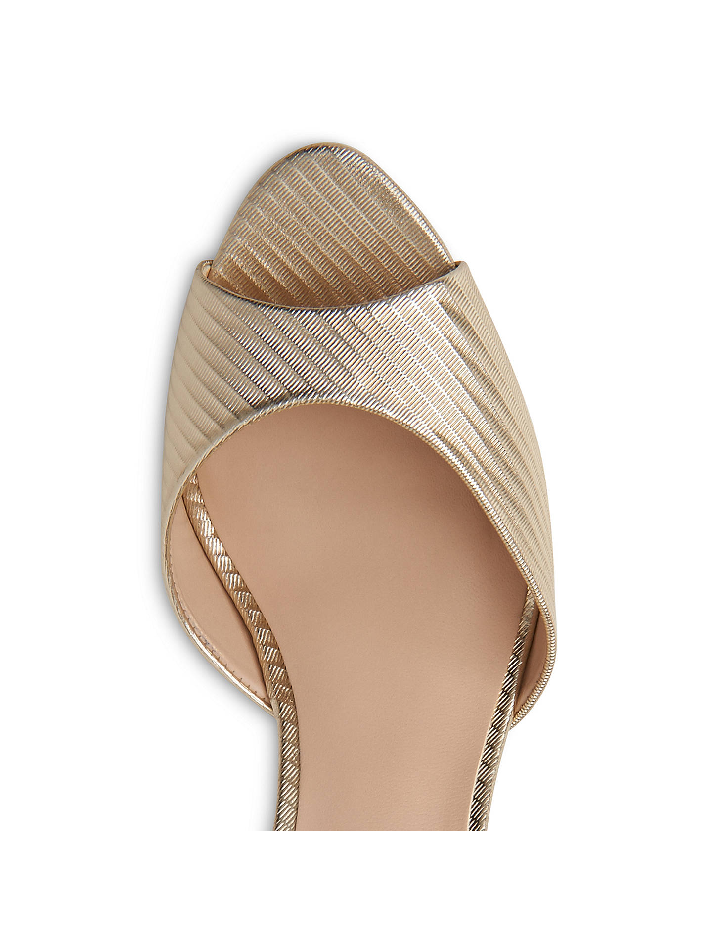 77c5d9a31e ... Buy L.K. Bennett Coco Wedge Heeled Sandals, Soft Gold Leather, 2 Online  at johnlewis ...