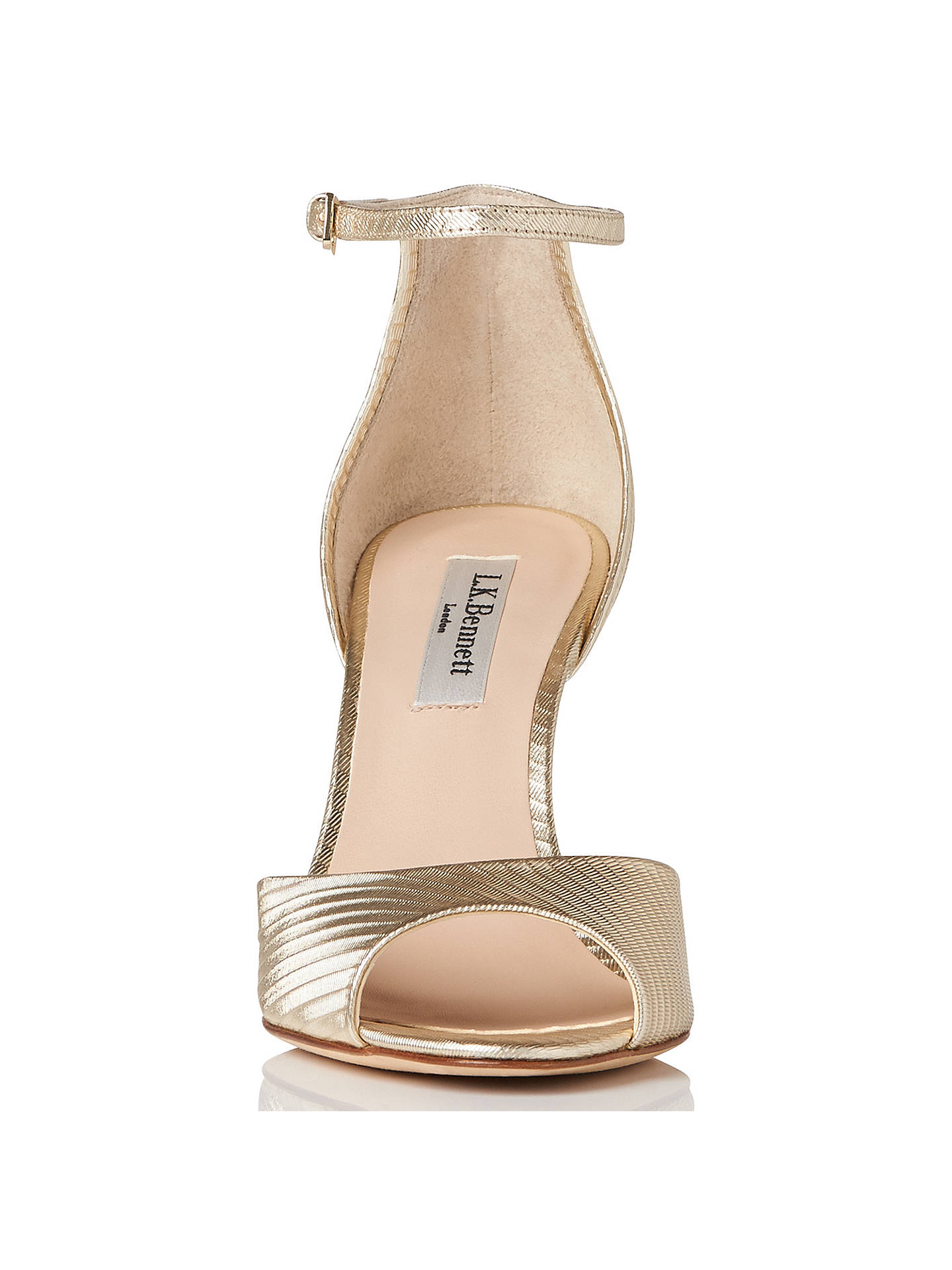 a89f2fe595 ... Buy L.K. Bennett Coco Wedge Heeled Sandals, Soft Gold Leather, 2 Online  at johnlewis