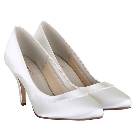 Rainbow Club Nicole Extra Wide Fit Satin Court Shoes Ivory Online At Johnlewis