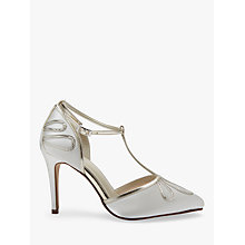 Buy Rainbow Club Elspeth Stiletto Heeled Sandals, Ivory Satin Online at johnlewis.com
