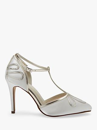 Rainbow Club Elspeth Stiletto Heeled Sandals, Ivory Satin