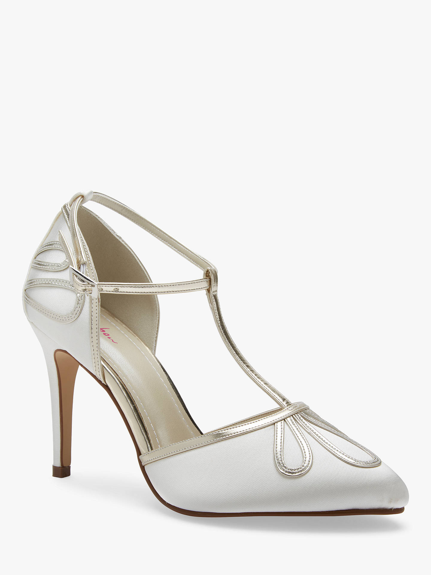 BuyRainbow Club Elspeth Stiletto Heeled Sandals, Ivory Satin, 3 Online at johnlewis.com