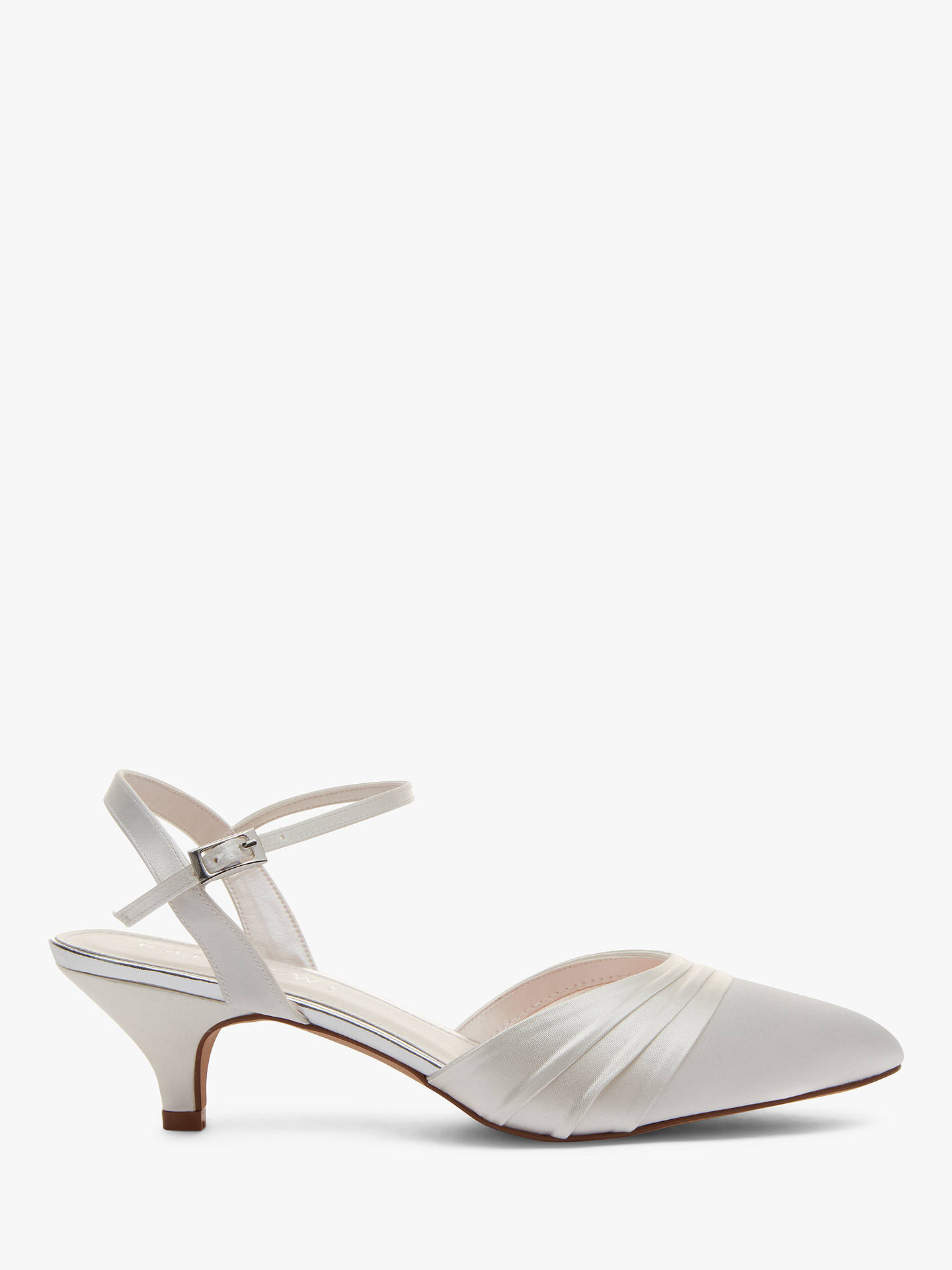 962ec4f0d8 Buy Rainbow Club Julie Kitten Heel Court Shoes, Ivory Satin, 3 Online at  johnlewis ...