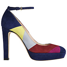 Buy L.K.Bennett Amira High Heeled Ankle Strap Court Shoes, Multi Suede Online at johnlewis.com
