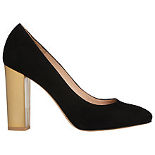Buy L.K. Bennett Block Heeled Court Shoes, Black Suede Online at johnlewis.com