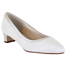 Buy Rainbow Club Demi Extra Wide Fit Block Heeled Court Shoes, Ivory Satin Online at johnlewis.com