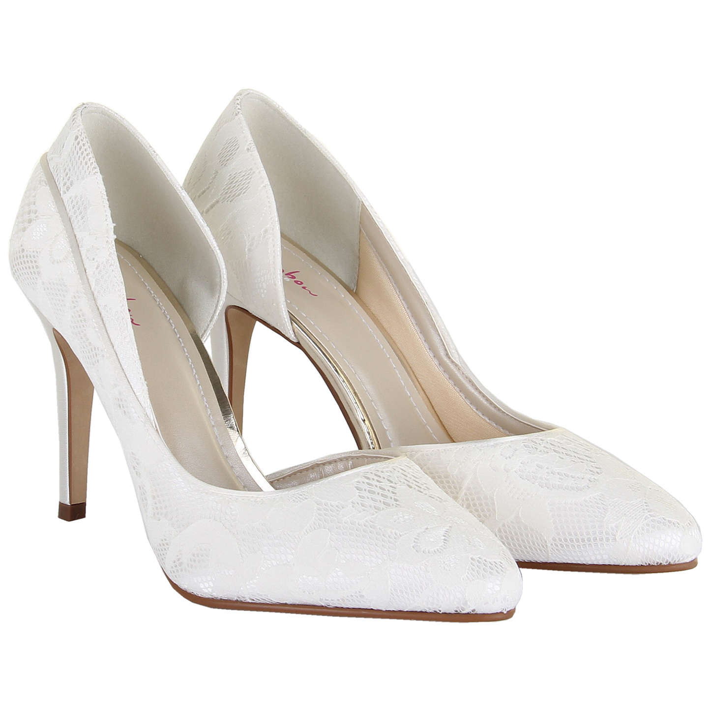 BuyRainbow Club Jessica Asymmetric Court Shoes, Ivory Satin, 6.5 Online at johnlewis.com